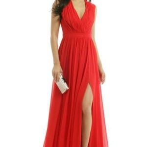 Badgley Mischka To Love Again Red Gown